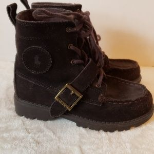 Polo by Ralph Lauren Shoes - ❤️SALE❤️POLO brown boys boot with tie & velcro